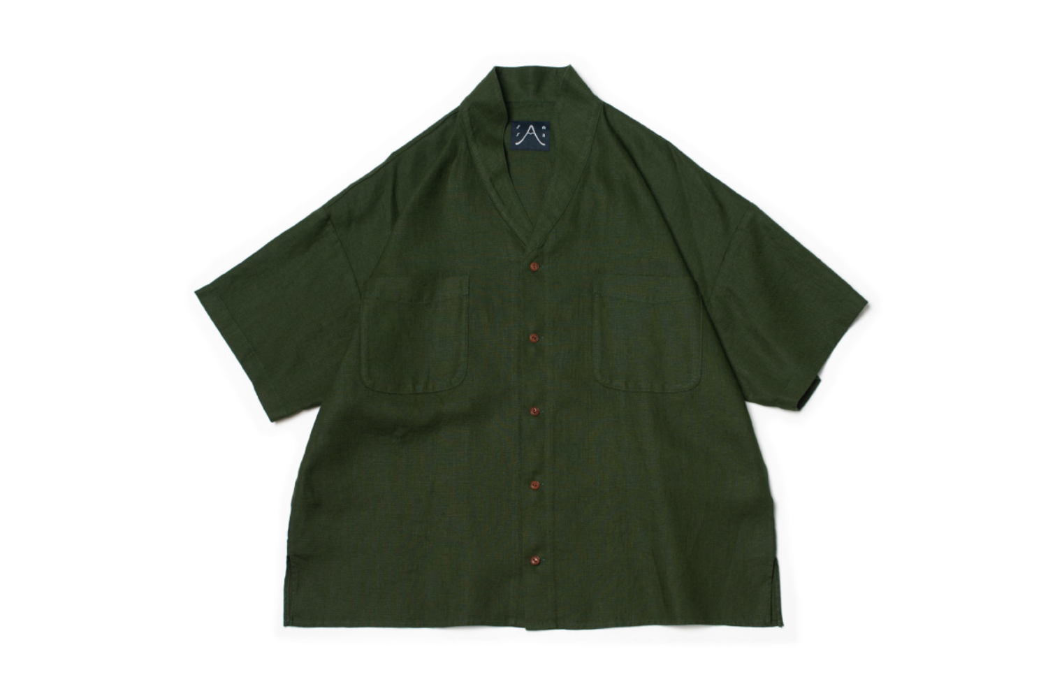 Two-ways Avocado Green SS Shirt L