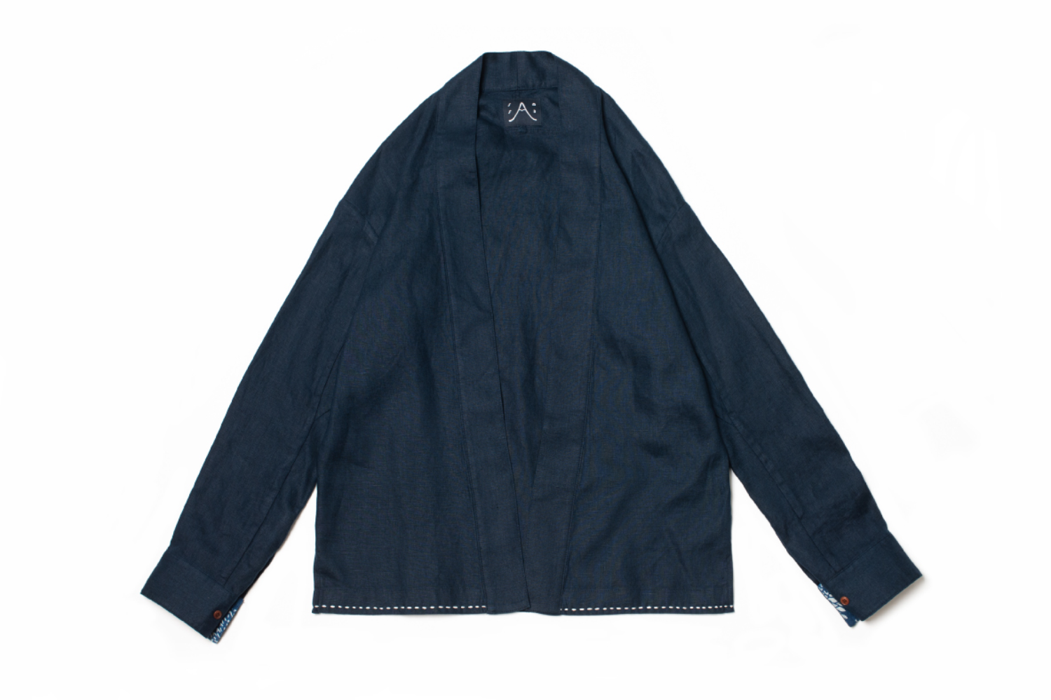 Midnight Navy Robe Shirt L