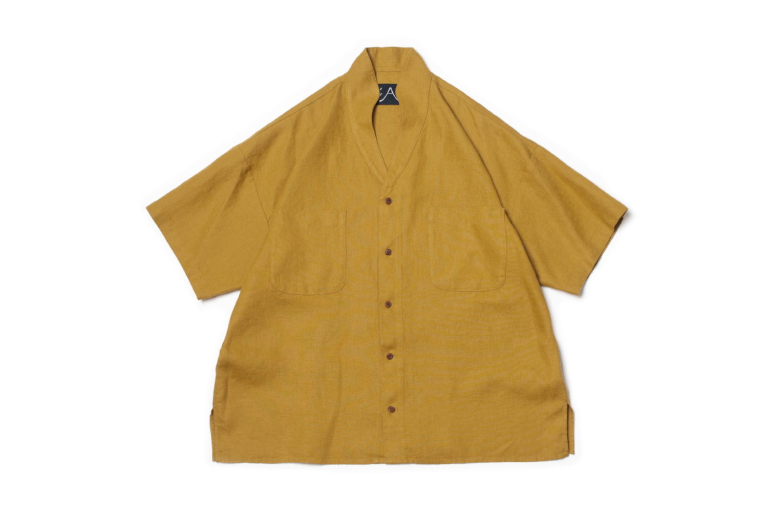 Two-ways Whole Grain Mustard SS Shirt L