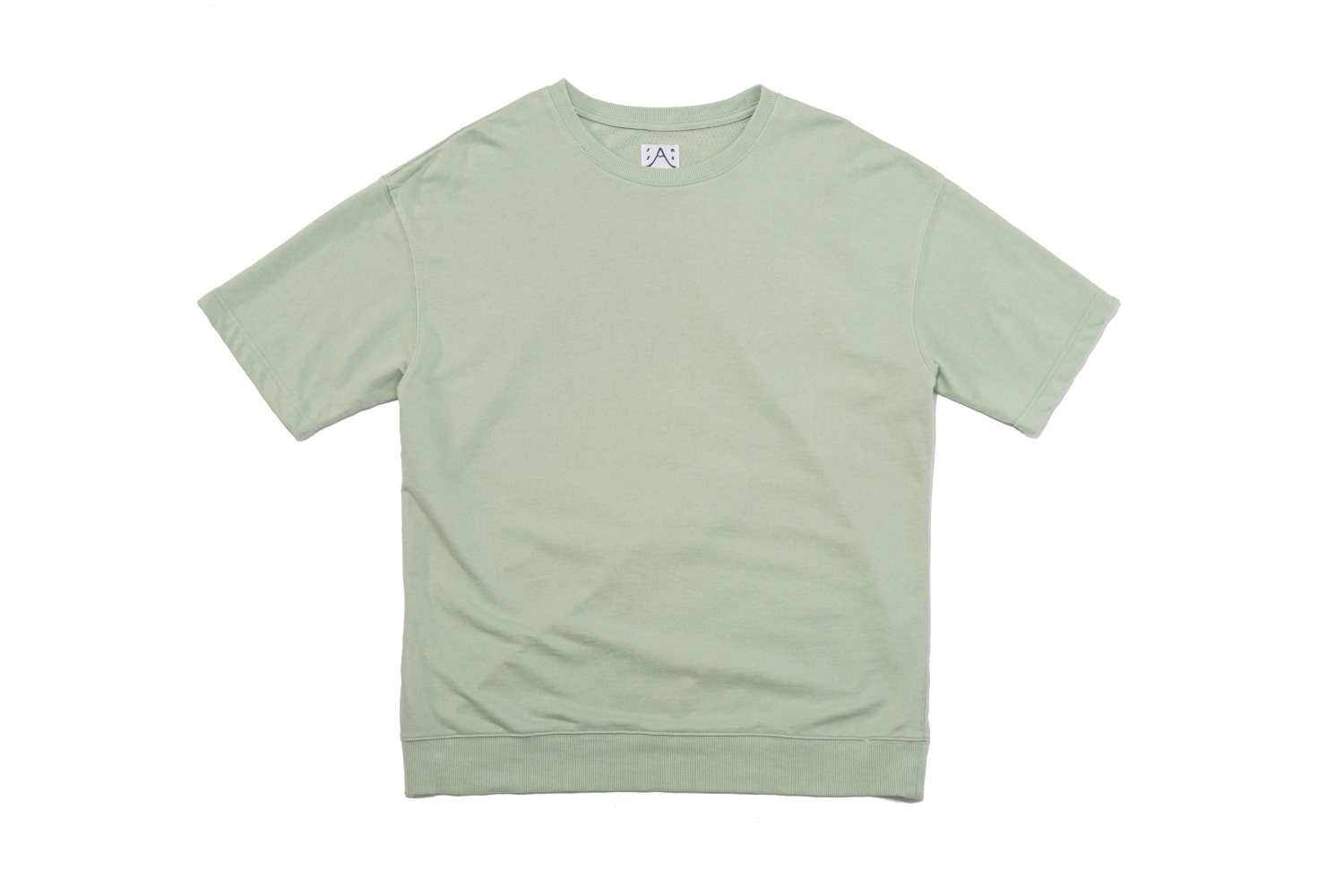Sweat SS T (Hand-stitch) Mint